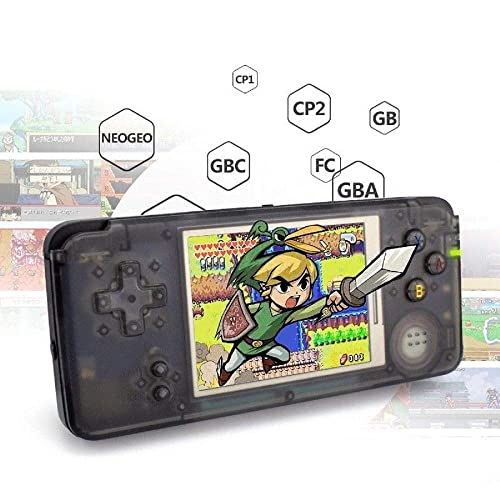 Anbernic Handheld Game Console , Retro Game Console 16GB 3000 Classic Game Console , 3 Inch HD Screen TV Output Portable Video Game Console , Birthday Gift for Children - Black