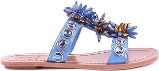 Luxury Fashion Womens MCBI16702 Blue Sandals   Season Outlet
