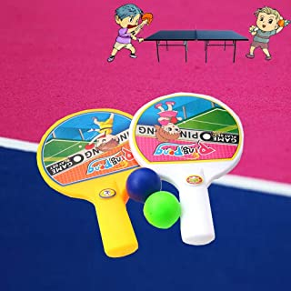 b17c6a5e55102 Vovotrade® Drôle Mini Raquette Tennis Table avec 2 Ping Pong Bats Balls  Enfants Enfants Jouet