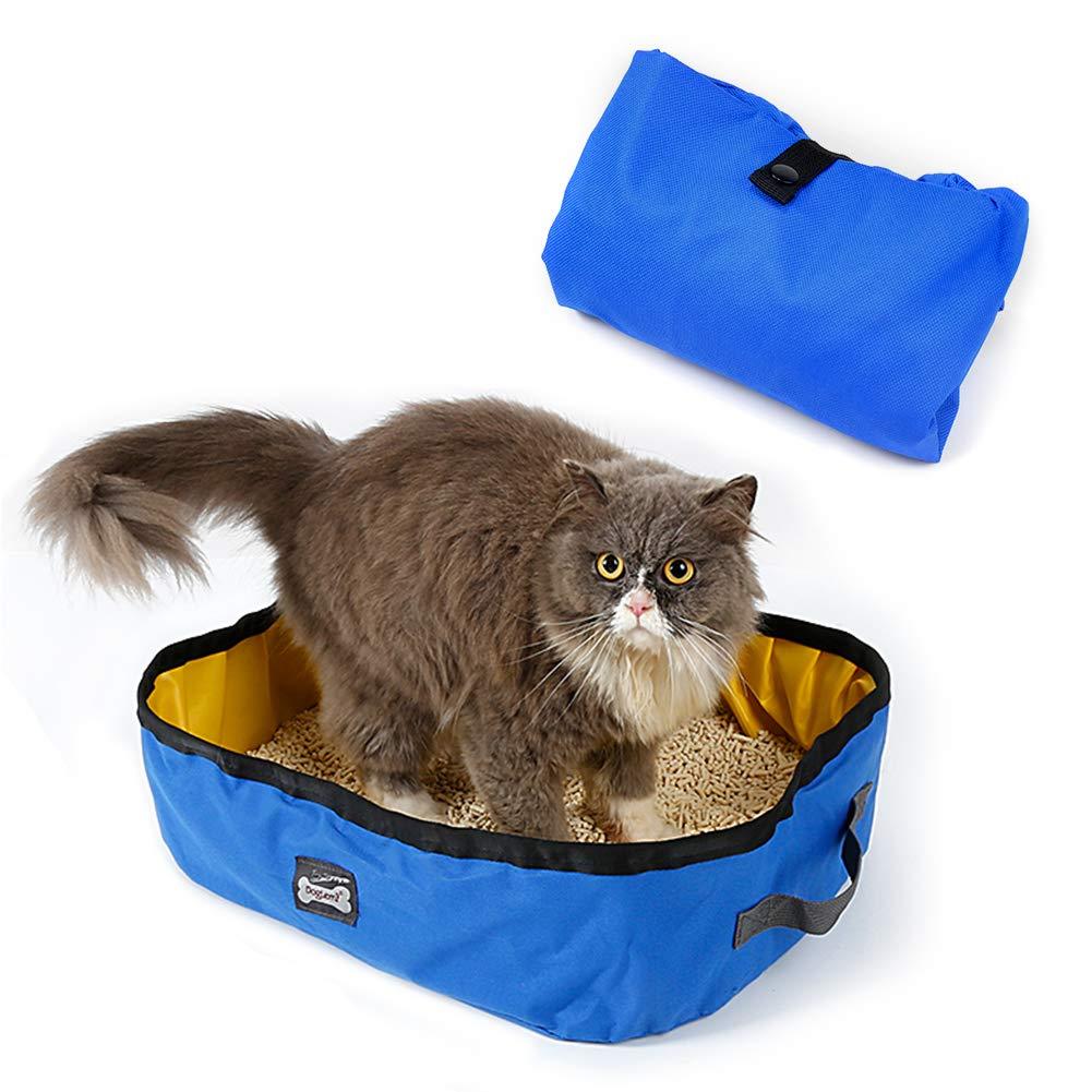 Arenero plegable y portátil para gatos de Petneces, resistente al ...