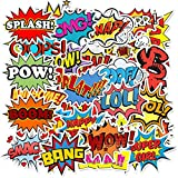 FNQ 50 Uds.Conjunto de Palabras en inglés Pegatina Sorpresa Frase Corta Pegatina DIY Moto Coche y Maleta Cool Laptop PVC calcomanías Pegatina Juguete para niños
