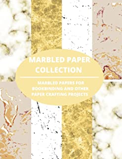 Marbled Paper Collection: marbled papers for bookbinding and other paper crafting projects