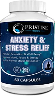 Anti Anxiety & Stress Relief Supplement Natural Plant Based Herbal Blend Anxiety Relief Fatigue Support Mental Focus Posit...