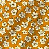eloria Cotton Cambric Mango Mojito mit Blumenmuster Stoff