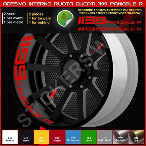 Ducati 0217 (031 Rouge) 1199 Panigale R Autocollants pour roues intérieur