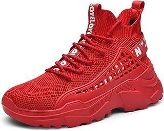 comprar comparacion XIDISO Hombre Zapatillas Moda High-Top Sneaker Casuales con Cordones Correr Zapatos Caminar al Aire Libre Entrenadores