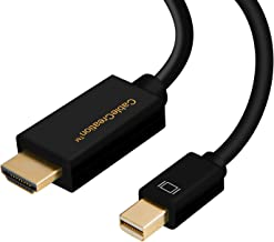 Mini DP to HDMI,Cablecreation Mini DisplayPort (Thunderbolt対応) to HDMI AV HDTVアダプターMac Book Imac &その他対応 (DP v1.2 4Kx2K対応) 0.9M/ブラック