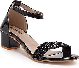 Butterflies Steps Latest Collection, Comfortable Heels Sandal for Women's & Girl's (Black) (GHS-0056BK)