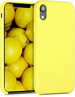 kwmobile TPU Silicone Case for Apple iPhone XR - Soft Flexible Rubber Protective Cover - Pastel Yellow