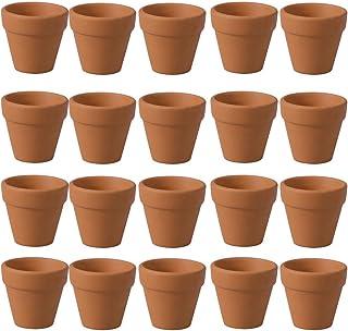 BESTONZON Mini macetas de terracota 20 piezas pequeñas terracota maceta arcilla cerámica maceta cactus suculentententöpfe, para Navidad interior y exterior boda (3 cm)