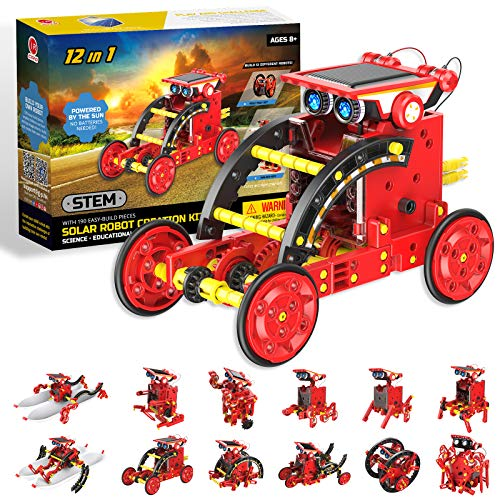 Stem Projects for Kids Ages 8-12 Solar Robots Kits 12in1 -190 Pieces DIY Science Kits Learning by...