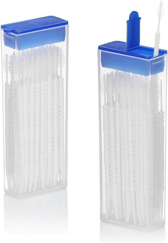 com-four® 120x Cepillo interdental - Cepillos interdentales Gum en el dispensador - Cepillo de Limpieza Dental con palillo de Dientes (120 Piezas - en ...