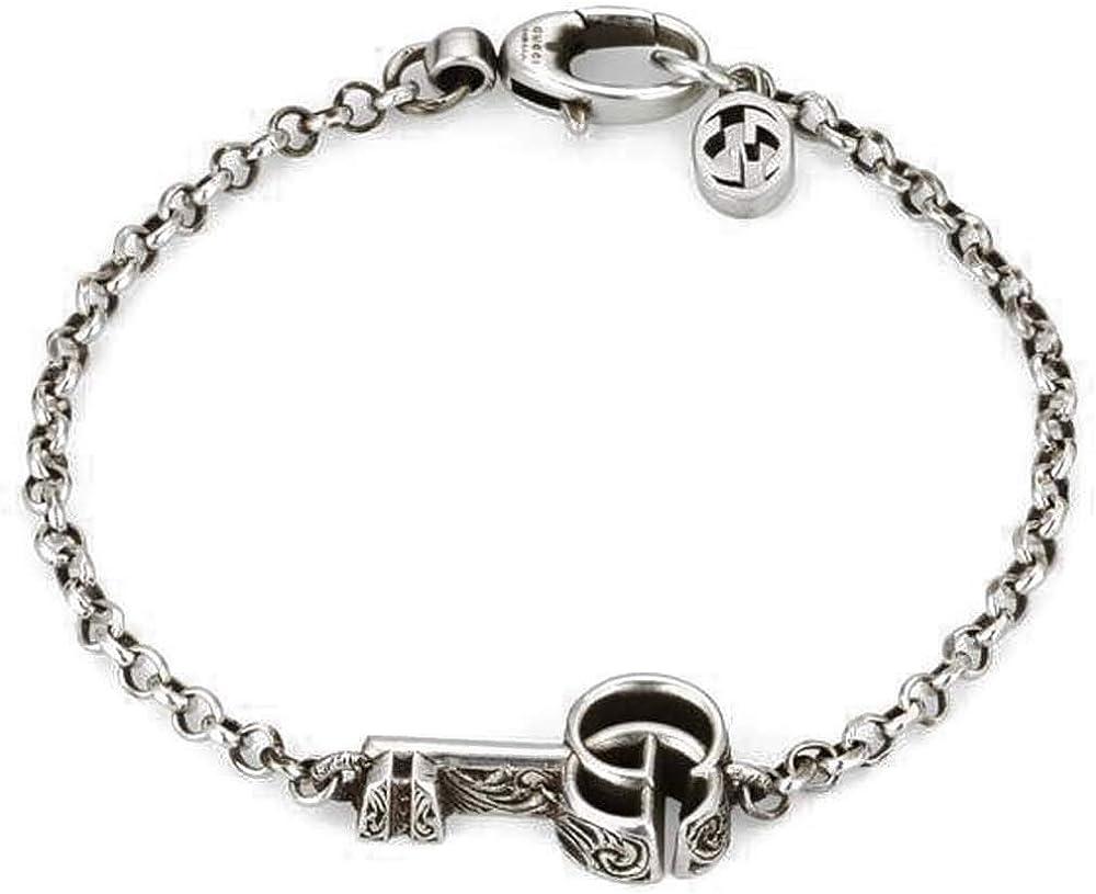 Gucci bracciale da donna in argento 925 anticato YBA632207001017