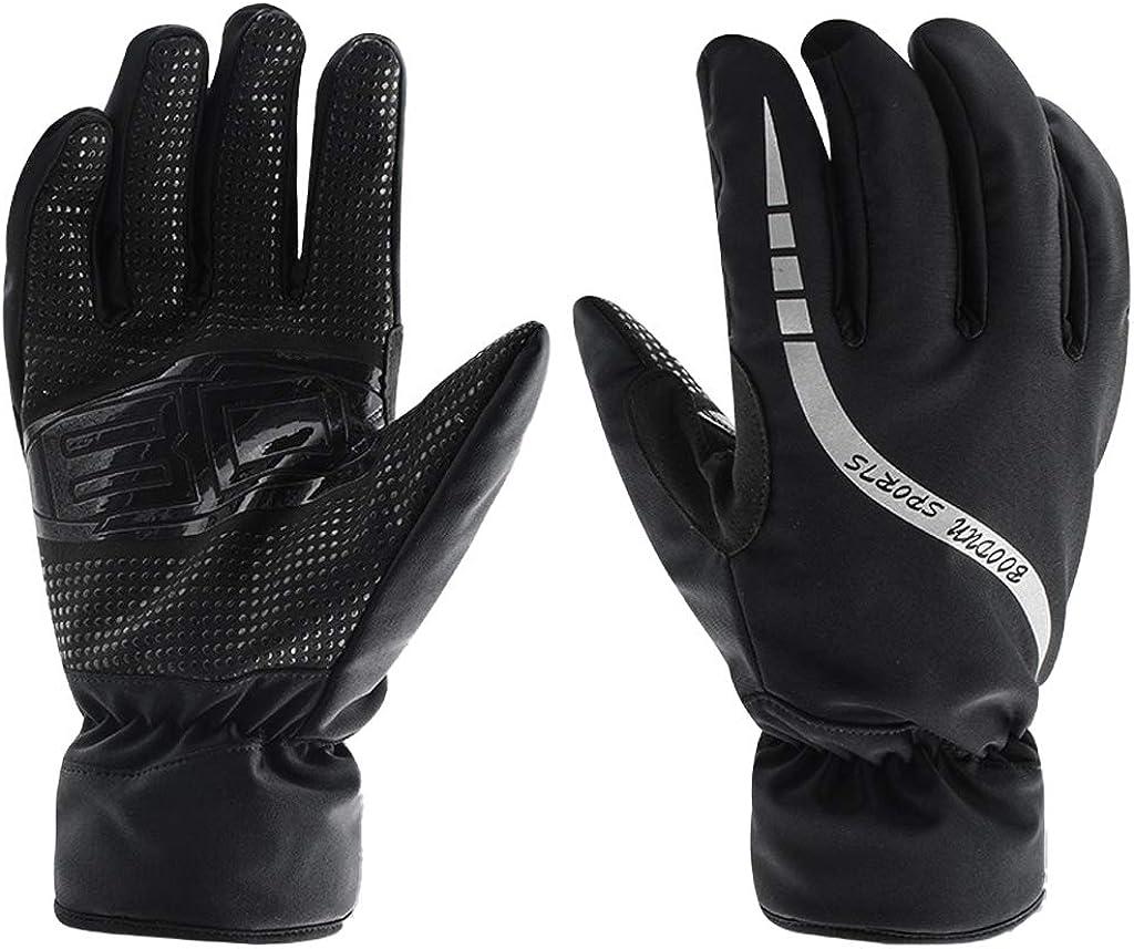 LISM Men Waterproof Ski Gloves Outdoor Windproof Warm Winter Anti-slip Mittens