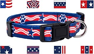 Native Pup American Flag Dog Collar |4th of July| USA Patriotic Flag Pattern| 12 Designs