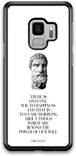 There is Only Way to Happiness Quote Epictetus Ancient Greek Philosopher case for Samsung Galaxy S9