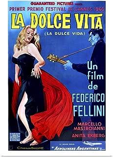 GREATBIGCANVAS Poster Print Entitled La Dolce Vita - Vintage Movie Poster by Vintage Apple Collection 12