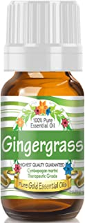 Pure Gold Gingergrass Essential Oil, 100% Natural & Undiluted, 10ml