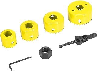 Hole Saw,Walory Bi-metal Hole Saw Kit 6Pcs Assorted Heavy-duty Hole Saw Set with 4 Saw Blades of 32/38/44/54mm, 1 Mandrel,...