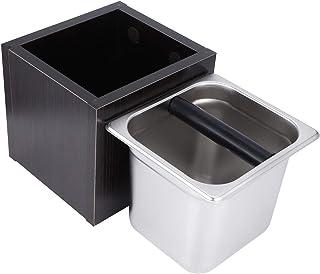 ノックボックスステンレス鋼高品質コーヒーノックボックスコーヒー挽いたビンコーヒー挽いた容器コーヒーミルクティーショップの供給(Square wood residue box)