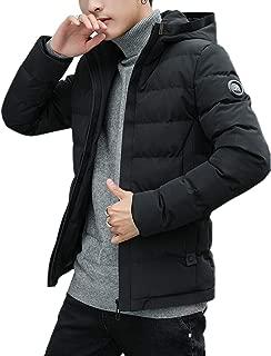 InnoBase コート メンズ ダウンコート フード付き ダウンジャケット 中綿ジャケット ハーフ丈 軽量 アウター スリム 防寒 防風 冬 秋 厚手 カジュアル おしゃれ 無地 暖かい 通勤 通学