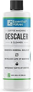 Essential Values Universal Descaling Solution (2 Uses Per Bottle), Designed For Keurig, Nespresso, Delonghi and All Single...