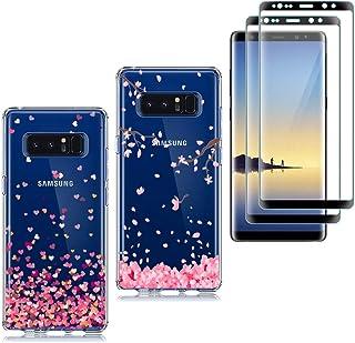 cb9ab5a4ce6 kaliter 2 X Funda Samsung Galaxy Note 8, Suave Transparente TP Silicona  Carcasa para Samsung