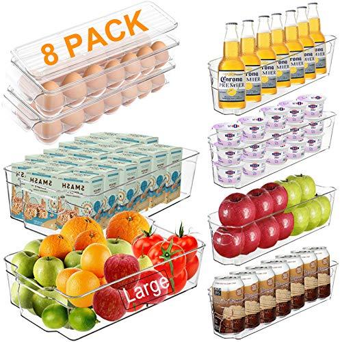 Alpacasso Fridge Organizer Storage Bins Stackable Freezer...