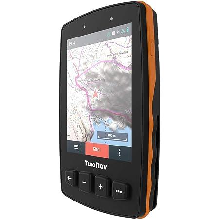 "TwoNav - GPS Trail 2 - Senderismo Trekking / 4 Botones Frontales/Pantalla 3.7"" / Autonomía 20 h/Memoria 32 GB/Tarjeta SIM/Mapa topográfico Incluido"