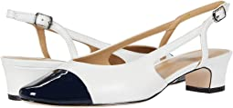 White Nappa/Navy Patent Exclusive