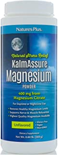 NaturesPlus Kalmassure Magnesium Powder - 400 mg, Vegan Powder - Unflavored - Natural Stress Relief, Supports Nerve And Mu...
