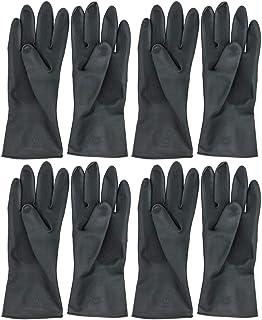 Gants /épais en Caoutchouc Noir r/ésistants /à lhuile et /à lusure jetables en Latex sans Nitrile 100 pcs Moderne Noir M, Black