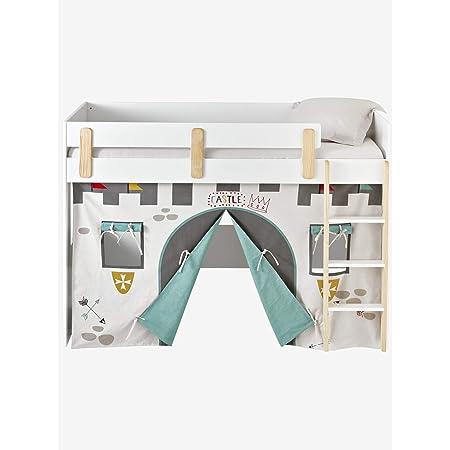 VERTBAUDET Tente de lit Château fort pour lit mezzanine mi hauteur ligne Everest gris TU