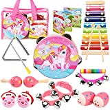 oathx Baby Girl Gifts /Toddler Musical Instruments Ages 1-3 /Baby Music Toys 6-12-9-18 Months Infant /1st Birthday Girl Gifts for 1 2 Year Old/Kids Preschool Educational Learning Toys Drum, Xylophone