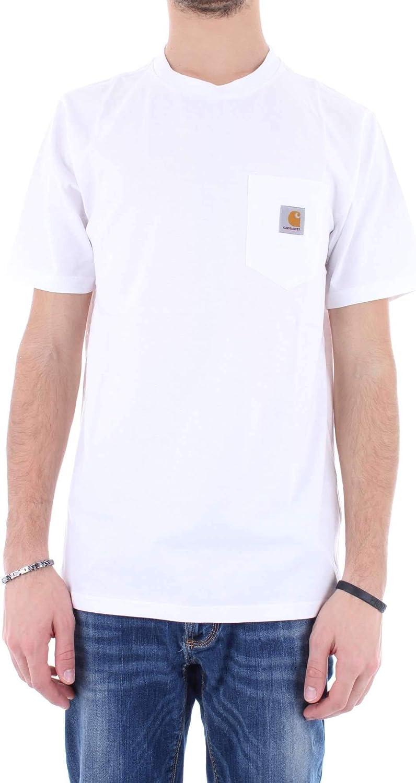 Carhartt Men's I022091WHITE White Cotton T-Shirt