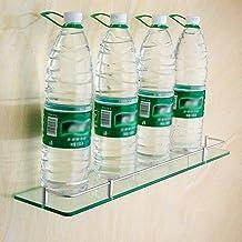 Yxsd Badkamer planken, wandmontage gehard glas badkamer douche plank bad douche planken Caddy douche en aluminium (maat: 2...