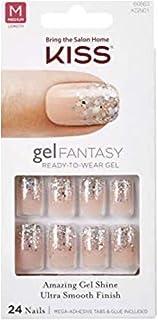 Kiss Nails Gel Fantasy FANCIFUL (KGN01) Medium Nails w/Adhesive Tabs & Glue