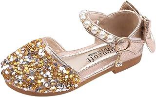 WEXCV Baby meisjes kinderen sandalen herfst strass parel bow dansschoenen anti-slip zachte prinses schoenen schattig stijl...