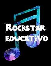 Rockstar educativo: Cuaderno De Tablatura Guitarra Seis Cuerdas Gran pentagramado con para Pentagramas de 6 líneas 7 Diagr...