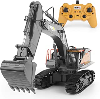 Upgraded Charging Excavator RC Toy 22-Channel Full-Function RC Excavator Sand Engineering Vehicle 1:14 2.4Ghz With Lightin...