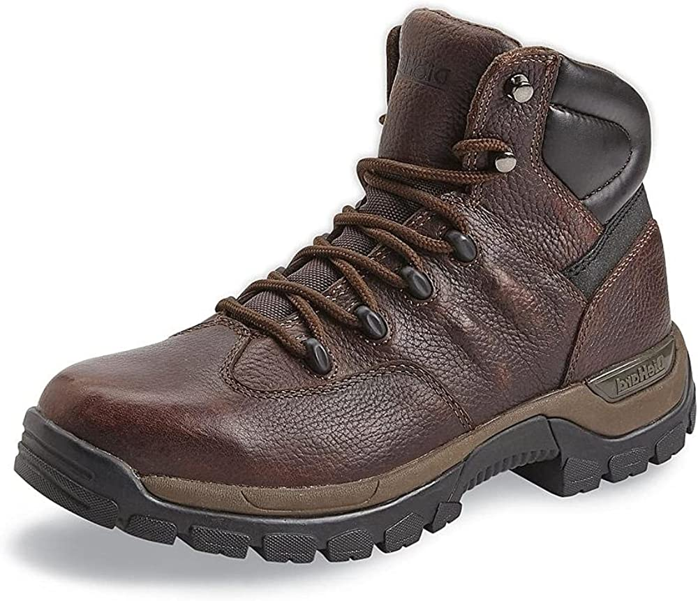 DieHard Outlets Center US 9 Work Boots for Men - Variety of Boots, Oil Resistant Non-slip Anti-Fatigue Wedge Sole Shoes, Water Resistant Safety Leather boots