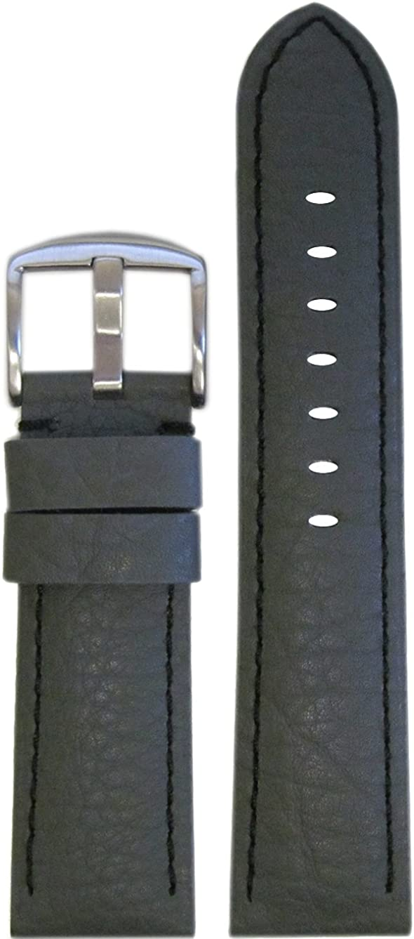 26mm Panatime Grey Now free shipping Genuine Calfskin Watch Black with Stitch Band sold out