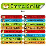 50 Etiquetas Adhesivas Personalizadas para marcar objetos, libros, fiambreras,...