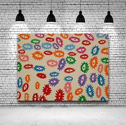 hetingyue Japanische Maler Moderne abstrakte Fischaugen Leinwand Bild Poster und drucken Wandbild Wohnzimmer Home Decoration rahmenlose Malerei 40X60cm