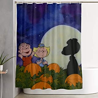 Meirdre Stylish Shower Curtain Great Pumpkin Snoopy Printing Waterproof Bathroom Curtain 60 X 72 Inches