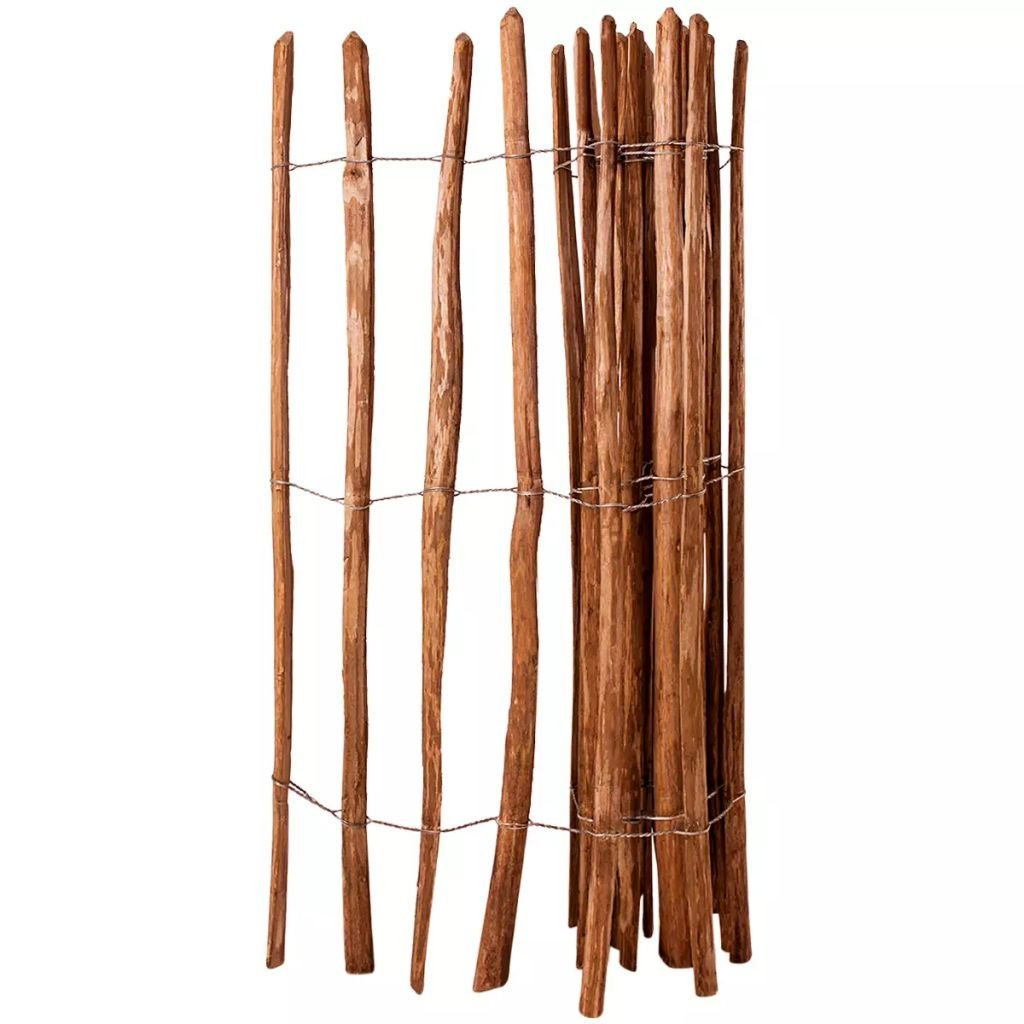 Furnituredeals Malla para cercas Valla de estacas Madera de avellano impregnada 150x250 cm cercas para Jardin: Amazon.es: Jardín