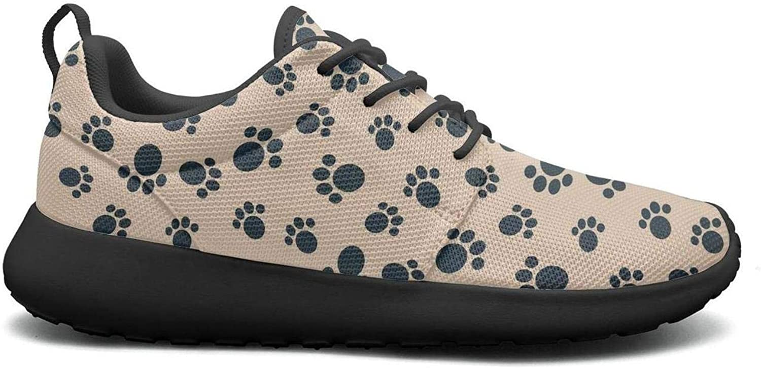 Wuixkas Dog Puppy Footprints Womens Lightweight Mesh Sneakers Popular Gym shoes