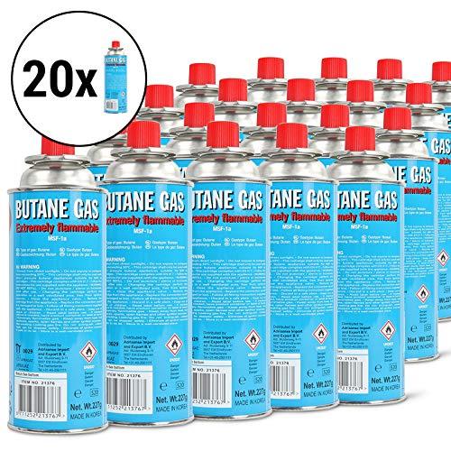 20 x Cartouche de gaz butane battery® 220 g pour réchaud de camping Cartouche et barbecue