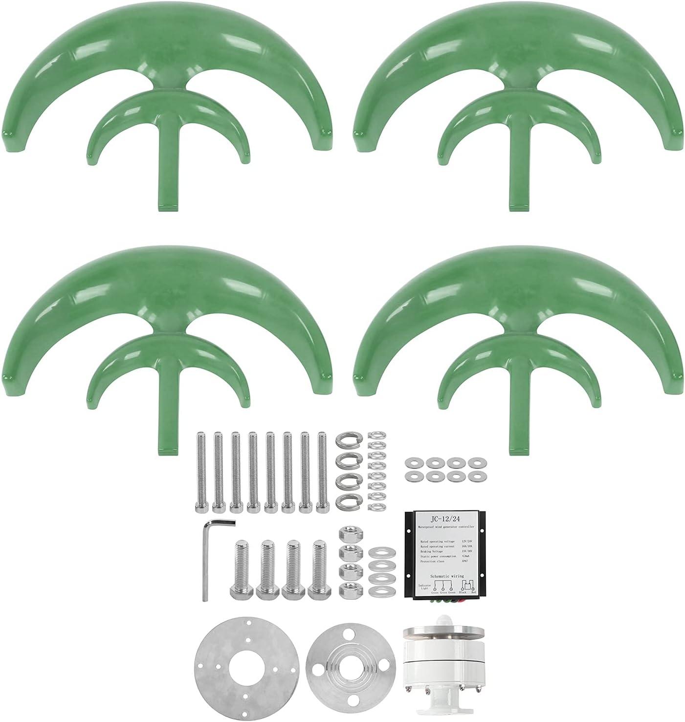 Wind Super beauty product restock Max 89% OFF quality top Power Generator Green Lantern‑Shaped 4 Turbine Blades Win