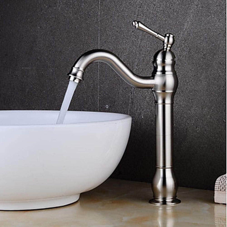 Waschbecken Wasserhahn-Klaue Nickelbürste Zentrum Einhand-Einloch-Wasserhahn